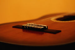 Classic Guitar. A perspective of a classic guitar Royalty Free Stock Photos