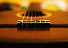 Classic Guitar. A perspective of a classic guitar Stock Photo