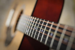 Classic guitar with shallow DoF. Horizontal Royalty Free Stock Image