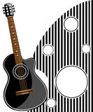 Classic Guitar Vector Illustration Stock Photography