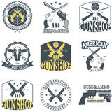 Classic Guns emblem Royalty Free Stock Images