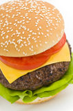 Classic Hamburger with cheese tomato and salad Royalty Free Stock Image