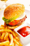 Classic hamburger sandwich Stock Photography