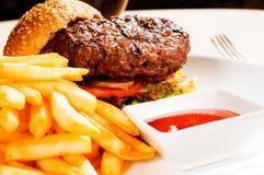 Classic hamburger sandwich Royalty Free Stock Photo