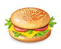 classic hamburger. Stock Images