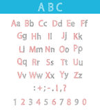 Classic Hand Drawn Alphabet. ABC for Your Design. Classic hand drawn alphabet made in . ABC for your design.Fully illustration Vector Illustration