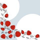Classic hand drawn background with roses Royalty Free Stock Photography