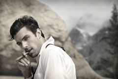 Classic handsome man royalty free stock images