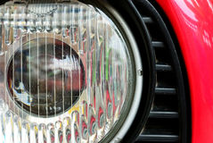 Classic headlamp of vehicle Royalty Free Stock Photography