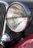 Classic car headlight Stock Photography