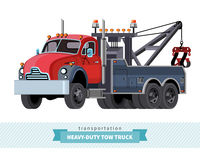 Classic heavy duty tow truck front side view Royalty Free Stock Photography