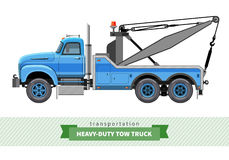 Classic heavy duty tow truck side view Stock Images