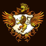 Classic Heraldic Royal Emblem Colorful Icon Stock Photography
