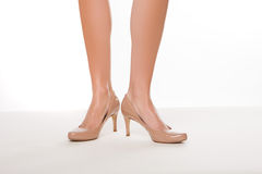 Classic high heeled court shoes Royalty Free Stock Photo