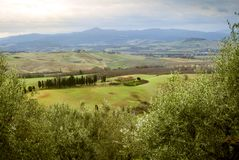 Classic hilly landscape in the Tuscan countryside - 2. Classic hilly landscape in the Tuscan countryside Stock Photography