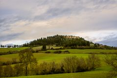 Classic hilly landscape in the Tuscan countryside - 1. Classic hilly landscape in the Tuscan countryside Stock Image
