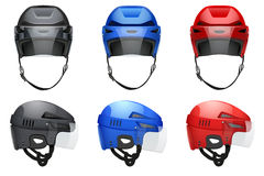 Classic Hockey Helmets Stock Photos