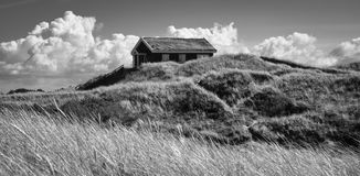 Classic holiday house in the dunes (2), Denmark Stock Photography