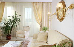 Classic home interior. Light room Royalty Free Stock Images