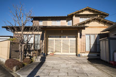 Classic home japanese style in Kawaguchiko Town , Japan. House royalty free stock images