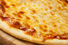 Classic Homemade Italian Cheese Pizza Royalty Free Stock Images