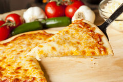 Classic Homemade Italian Cheese Pizza Stock Image