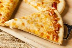 Classic Homemade Italian Cheese Pizza Stock Photography