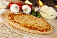 Classic Homemade Italian Cheese Pizza Royalty Free Stock Photography