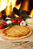 Classic Homemade Italian Cheese Pizza Stock Photo