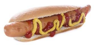 Classic Hot Dog isolated on white Stock Photography
