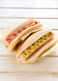 Classic hot dog Royalty Free Stock Images