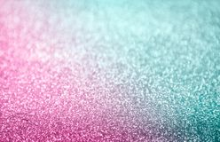 Classic hot pink and turquoise glitter background. Selective focus and stylish - design element Stock Photos