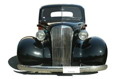 Classic Hot Rod Black Isolated Royalty Free Stock Photo