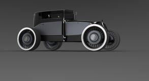 Classic hot rod car. A classic car concept, designed in 3d Stock Image