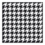 Classic houndstooth fabric for clothing royalty free stock photography