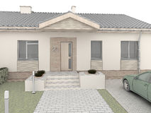 Classic house design. Front side. stock illustration