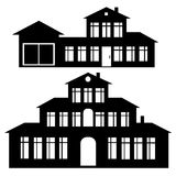 Classic house icon set isolated on white Stock Photography