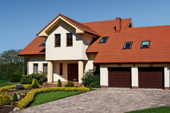 Classic house. Newly built house in classic style Stock Photo