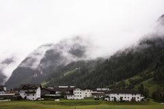 Classic house in Pitztal Valley in Tyrol, Austria Stock Photography