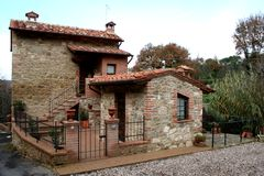 Classic house in Tuscany. Captured in Asciano (SI) - Tuscany in autumn 2006 Stock Photography