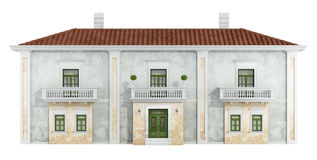 Classic house  on white Royalty Free Stock Photos