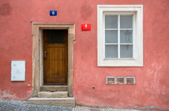 Classic house with  window and front door Stock Photography