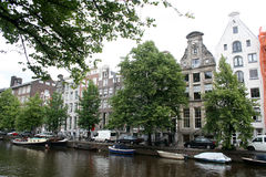 Classic houses on the Keizersgracht, with stepped gable Stock Image