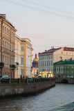 Classic houses on the Moika Embankment Royalty Free Stock Photo