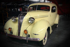 Classic Hudson Coup. A beautiful yellow 1937 Hudson Terraplane Classic restored automobile Stock Photo