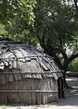 Classic hut used by the native American Wampanoag tribe at Plimoth plantation Stock Images