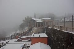 Funicolar to Castel San Pietro, Verona city in Italy royalty free stock photo