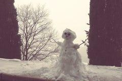 Snowman in Verona city Stock Photos