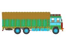 Jingle truck. Classic Indian jingle truck. Flat vector Royalty Free Stock Photography