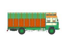 Jingle truck. Classic Indian jingle truck. Flat vector Royalty Free Stock Image